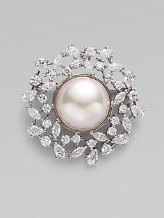 Majorica 16MM Pearl Wreath Pin