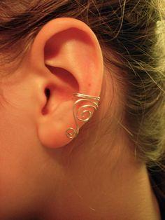 Simple wire ear cuff