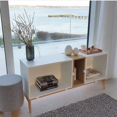 STOOL, designed by Anne Boysen, in Trine's beautiful home. Check out that view!  Photo: @Triner2