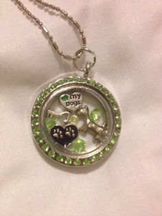 OOAK I Love My Dogs Floating Charm Memory Locket - pinned by pin4etsy.com
