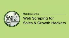 Learn web scraping without any code. This is the ultimate course in using web scraping for sales & growth hacking. Learn to get the data you need. Growth Hacking, Game Changer, Sales And Marketing, Getting Things Done, Coding, How To Get, Learning, Spider, Amp