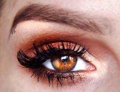 Bronze eyeshadow #brown #eyes