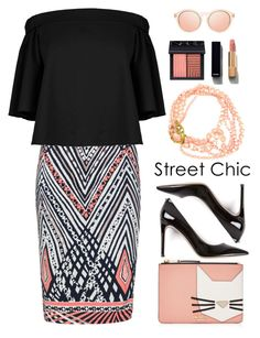 """""""Black & Blush"""" by youaresofashion ❤ liked on Polyvore featuring Anna Scholz, Karl Lagerfeld, Valentino, TIBI, NARS Cosmetics, Chanel and StreetStyle"""
