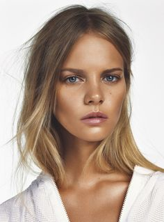 runwayandbeauty:Marloes Horst by Jonas Bresnan for Marie Claire Beauty UK.