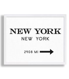 New York City Print Typography Art Print Gift for Him Fashion Art NYC Art Prada Marfa Sign Like in Gossip Girl Print Black and White Print
