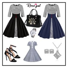 """""""rosegal women dress 31"""" by merisa-imsirovic ❤ liked on Polyvore featuring vintage"""