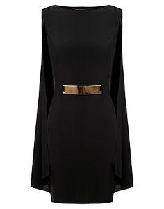 Lipsy Short Dresses, Price: GBP 60.00, Michelle Keegan Bar Trim Cape Dress