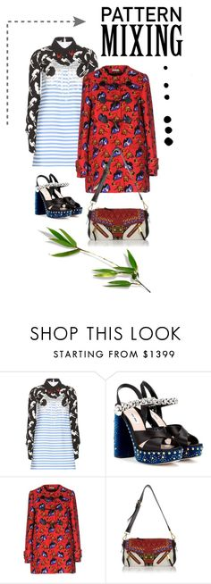 """""""Pattern Mixing"""" by georgiagreer ❤ liked on Polyvore featuring Miu Miu, polyvoreeditorial and patternmixing"""