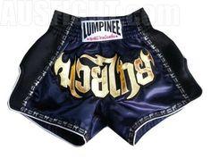 Lumpinee Retro Muay Thai Fight Shorts : LUMRTO-003-Navy