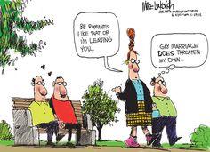 cartoons Gay political