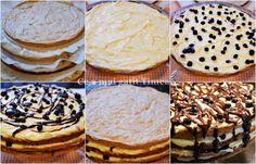 Tort cu nuca crema de vanilie si afine - Retete Timea Camembert Cheese, Dairy, Cookies, Desserts, Food, Biscuits, Meal, Deserts, Essen