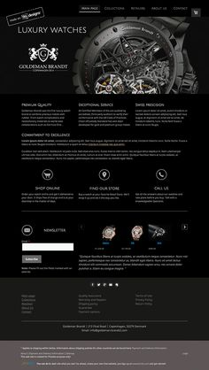 Luxurious online retailer logo and website design concept by designer TMark. – Jimdo template: Miami – Visit their full site here: http://goldeman-brandt2.jimdo.com/