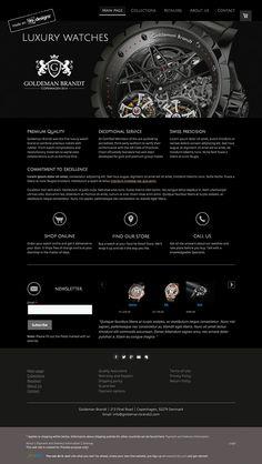 Luxurious online retailer logo and website design concept by designer TMark. – Jimdo template: Miami – Visit their full site here: http://goldeman-brandt2.jimdo.com/