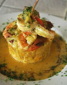 Mofongo relleno de camarones!Follow me and LIke my Food Blog on Facebook Username Mi-Cocina Rivera for recipes and more!