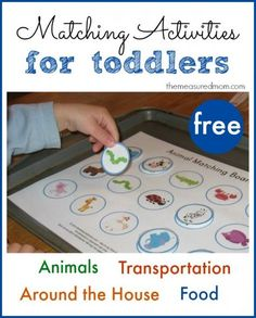 Free Matching Activities for Toddlers matching activities for toddlers. perfect for summer camp center ideas this summer!matching activities for toddlers. perfect for summer camp center ideas this summer! Road Trip Activities, Toddler Learning Activities, Speech Therapy Activities, Infant Activities, Preschool Activities, Kids Learning, Transportation Activities, Educational Activities, All About Me Activities For Toddlers