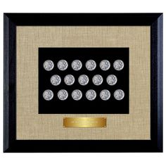 American Coin Treasures 'Last 20 Years of Buffalo Nickels' in Wood Frame