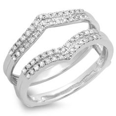 ctw Dazzlingrock Collection 0.36 Carat 10k Gold Round Diamond Ladies Bridal Anniversary Wedding Stackable Band 1//3 CT