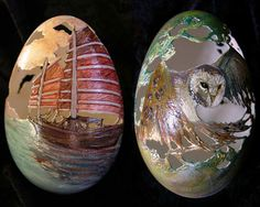 Incredible Carved Egg Sculptures