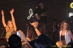 One More Girl and Brett Kissel performing at Cook County Saloon in Edmonton, Alberta, on the Young Guns Tour in 2014 (Bill Borgwardt Photography)