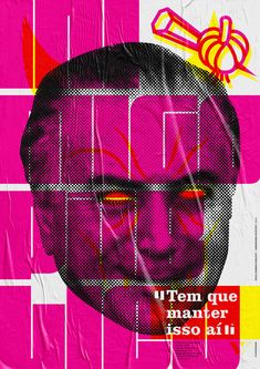 "A series of posters called ""Public Enemy"" about things that brazilian politicians have said and we shouldn't forget about. Design Art, Print Design, Corporate Id, Graphic Art, Graphic Design, Unique Poster, Design Theory, Collage Illustration, Poster Series"