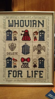 Doctor Who crafts, cross stitch and knitting - amazing Doctor Who fan art: