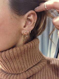 Baton Blanc earring gold