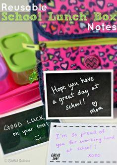 Reusable Lunch Box Notes - Todays Creative Blog