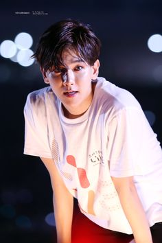 What my life has become. I see THIS STARE/SWEATY/HOT AS FUCK picture of Baek and I'm knocked out