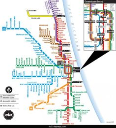 Chicago Subway Map - http://holidaymapq.com/chicago-subway-map.html