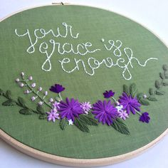 Your Grace is Enough Hand Embroidery Pattern por KnottyDickens