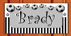 Football Soccer Door SIGN Nursery Room Decor Bedroom by kasefazem, $6.49