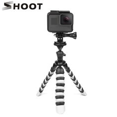 SHOOT Portable Mini Flexible Octopus Tripod for GoPro Nikon Sony DSLR Camera With Phone Clip For iPhone Xiaomi Mobile Phone //Price: $8.94//     #shop