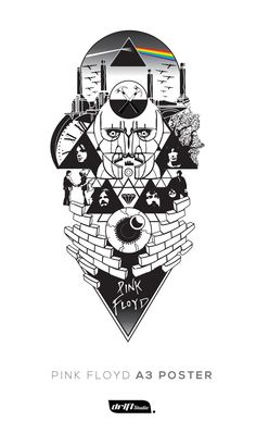 Design for Pink Floyd sleeve tattoo by driftstudio.co.uk #pinkfloyd