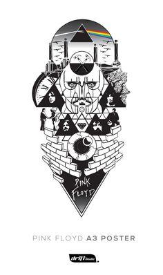 Design for Pink Floyd sleeve tattoo by driftstudio.co.uk #pinkfloyd