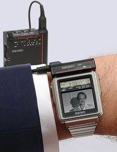 Seiko B&W TV Watch TR02-01 (1982, Japan)