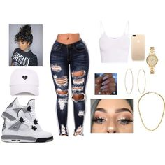 💕❤️love this outfit ❤️ Outfit Ideas For Teen Girls, Swag Outfits For Girls, Boujee Outfits, Black Dress Outfits, Cute Swag Outfits, Teen Fashion Outfits, Teenager Outfits, Cute Summer Outfits, Polyvore Outfits