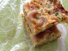 Zucchini and Pasta Slice - Lunch Box Ideas - FREEZABLE