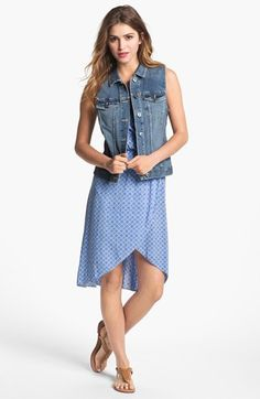 Two by Vince Camuto Vintage Wash Denim Vest available at #Nordstrom