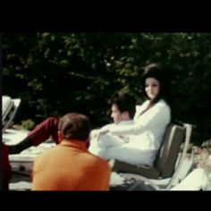 Elvis & Priscilla in Palm Springs the day after their wedding.