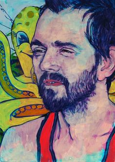 Vic (Octopus and Friend) 2014 by Hope Gangloff