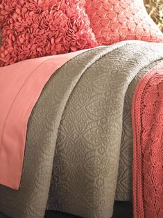 Amelia Quilted Bedspread Coverlet by Sferra | Gracious Style