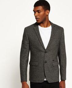 Vêtements Superdry Veste de costume - grey herringbone gris  € chez Zalando  (au Livraison et retours gratuits et service client gratuit au 0800 915 b5fd20d0d457