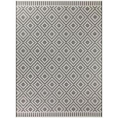 Desta Black 8 ft. x 10 ft. Indoor/Outdoor Area Rug Outdoor Carpet, Indoor Outdoor Area Rugs, Patio Rugs, Recycled Materials, Colorful Rugs, Rug Size, Contemporary Design, Colours, Weather Conditions