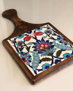 Ceramic Tile Crafts, Ceramic Painting, Boho Home, Tile Projects, Blue Pottery, Wooden Art, Glazes For Pottery, Mosaic Art, Home Crafts