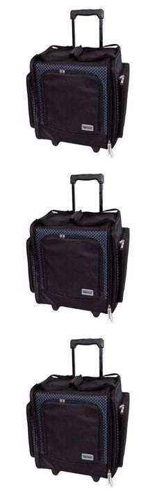 c1f7d89fd108 Craft Totes 183188  Papermania Wheelable Craft Tote Black - Liquorice Dot -  Pma934103 -