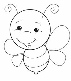 Baby Animal Drawings, Art Drawings For Kids, Drawing For Kids, Easy Drawings, Fruit Coloring Pages, Coloring Book Pages, Fly Drawing, Quilt Square Patterns, Paint And Sip
