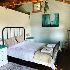 Bedroom in #thefarawaycottage_ Shady Tree, Fairytale Cottage, Outdoor Baths, Cottage In The Woods, Recycled Materials, Bedroom, Furniture, Home Decor, Decoration Home