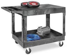 Uline Utility Carts with Flat Shelf