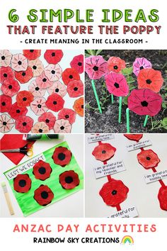 Read our blog post where we share 6 creative and super easy ideas for using the poppy in your classroom. 🌺 Create Meaning, Rainbow Sky, Anzac Day, Remembrance Day, Teacher Hacks, School Resources, Holiday Time, School Classroom, Teaching Tips