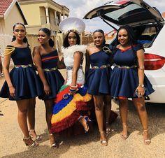 Zulu Traditional Wedding Dresses, Zulu Traditional Attire, South African Traditional Dresses, Traditional Outfits, African Print Wedding Dress, African Bridesmaid Dresses, African Wedding Attire, African Weddings, African Attire